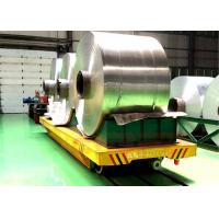 30T Automatic Coil Transfer Trolley , Paper Roller Material Transfer Carts Manufactures