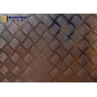 Big Five Bar Checkered 6061 Aluminum Plate 0.6mm - 10mm Thickness High Hardness Manufactures