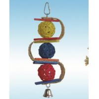 natural vine parrot toys 8 inches S shaped cardboard and balls for cockatiel Manufactures