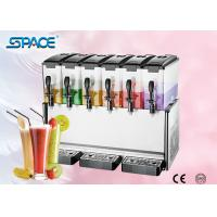 Fast Cooling Six Tank Juice Dispenser Machine , Electric Beverage Dispenser Manufactures