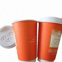 10oz Double-wall Paper Cups with Flexo Printing/FDA Mark, Made of 320gsm Sun Paper Manufactures