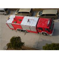 Heavy Duty Foam Fire Truck Maximum Allowable Load 34000KG With Electric Steering Box Manufactures