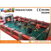 Professional Giant Inflatable Foosball Field Blue / Green / Yellow Manufactures