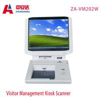 White Desktop Visitor Management Kiosk Touch Screen Bank Hotel Payment Kiosk Scanner Wholesale ZA-VM202W Manufactures