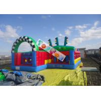 Kids Inlfatable Amusement Parks Inflatable Run Chasing Race Fun City / Durable And Safety Manufactures