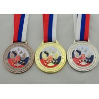 Die Casting 3D Boxing Ribbon Medals with High 3d And High Polishing for Company Promotional Gift Manufactures