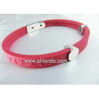 Custom silk print debossed embossed rubber silicone bracelet with logo print engrave silicone wristband Manufactures