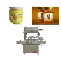 Touch Screen Honey Filling Machine For Glass Bottle Sauce / Fruit Jam Manufactures