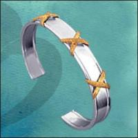 Buy cheap Gold Plating Silver Bangle from wholesalers