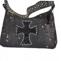 western cross rhinestone cowhide shoulder bag with crystal strap Manufactures