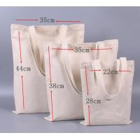 China Zip Up Reusable Shopping Bag Nature Heavy Duty Cotton Canvas Made on sale