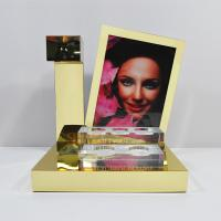 LED Acrylic Perfume Retail POS Displays With Gold Magnetic Levitation Manufactures