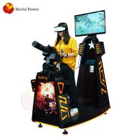 China Black Color VR Gatling Simulator Virtual Reality Gun Shooting Game on sale