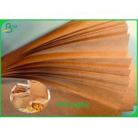 China Uncoated Brown Food Wrapping Paper 40g 50g 60g 70g 80g FSC / FDA Approved on sale