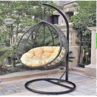 Outdoor Garden Rattan Hanging Swing Chair With Cushion Comfortable