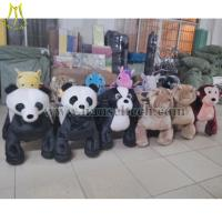 Hansel 2016 high quality Guangzhou Wholesale Electric Car Rides Kiddie Rides Stuffed Electric Scooter Motorized animals Manufactures