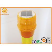 Delineator Post Topper Solar Powered Traffic Warning Lights , SU -1130 LED Beacon Manufactures