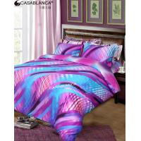 Colorfull Softness Sateen Bedding Sets with Advance Reactive Printed Manufactures