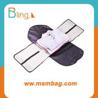 China MSM black business poly material cloth travel storage bag on sale