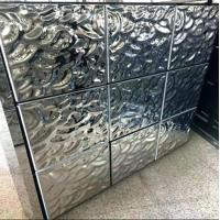 Water Wave Shaped Stainless Steel Panels Gold Mirror Finish For Hotels Villa Lobby Interior Decoration Manufactures