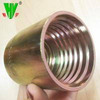 China Hydraulic hose ferrule fitting forged flexible hose connector on sale