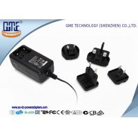 Interchangeable Wall Mounted 24W AC DC Power Adapter With Light Manufactures