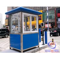 Columniform Tall Stainless Steel Sentry Box / Security Booth And Glass-Window For Watching Manufactures