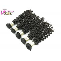Black Unprocessed Brazilian Virgin Hair Deep Wave Free Shedding , Can Be Dyed Manufactures