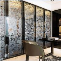 Folding Home Decorative Stained Glass Interior Doors For Wardrobe Glass Door Manufactures