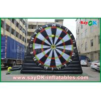 5m DIA Inflatable Sports Games PVC Velcro Soccer Football Dart Board Stands Manufactures