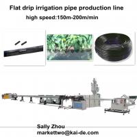 Flat chip inlaid drip irrigation tube making machine(16mm-20mm) with high speed Manufactures