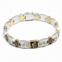 Bracelet, Customized Designs Welcome, Available in Various Styles, Made of Stainless Steel Manufactures