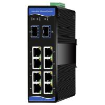 Managed Industrial Grade Ethernet Switch 8 Gigabit RJ45 ports+2 Gigabit SFP ports Manufactures