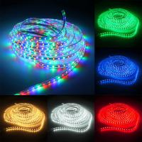 Super bright 5M 5050 3528 144leds/m DC12V Flexible Single Color RGB waterproof led strip light for Outdoor and Indoor Manufactures