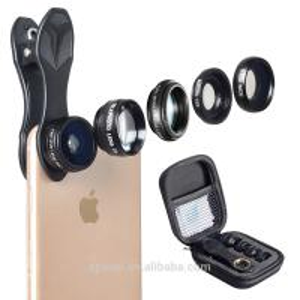 Detachable Mobile Phone Camera Lens 5 In 1 Optics Fixed Focus Lens Kit Manufactures