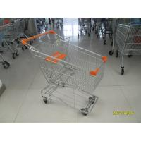 Asian Type 100L Wire Shopping Trolley / Grocery Shopping Cart With 4inch TPE casters Manufactures