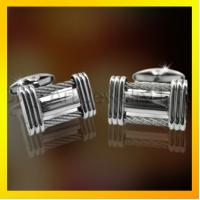 China high fashion silk knot cuflinks in stainless steel on sale