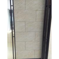 China Glazed Rough Modern Bathroom Floor Tile Acid Resistant Yellow Beige Color on sale