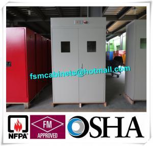 Full Steel Flammable Gas Cylinder Drum Storage Cabinets , Lab Drum Gas Cyliner Storage Cabinets Manufactures