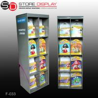 Advertising cardboard floor book display stand with grids Manufactures