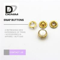 Gold Color Bulk Clothing Pearl Prong Snap Buttons Fasteners Nickel Free Manufactures