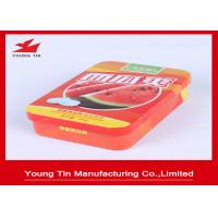 Custom Small Candy Gift Tins , Empty Sweets Candy Packaging Metal Tin Box Manufactures