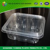 Temper Resistant 48 oz Clear Plastic Food Containers  Birthday / Barbecue Manufactures