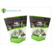 Glossy Finished Pet Food Packaging / foil stand up zip pouch Clear Window Manufactures
