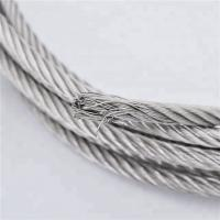 China Highly Flexible Strand Stainless Steel Wire Rope Marine Grade 7 X 19 on sale