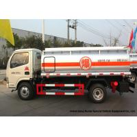 4x2 Refueling Fuel Oil Delivery Truck 4000 L With Dual Circuit Compressed Air Brake Manufactures