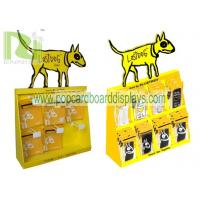 China countertop pets display stand ,cardboard counter display unit with plastic hooks for blister products on sale