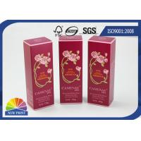 Red Paper Cosmetic Box / Face Cream Packaging Box / Custom Cosmetic Packaging Manufactures