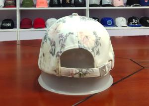 Customized Colors Chinese Style ACE Flower Printed Logo 6panel metal patch Baseball Sport Caps Hats Manufactures