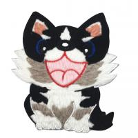 Small Lovely Sew On Chenille Embroidery Patches For Clothes Cartoon Design Manufactures